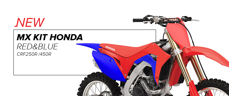 KIT MX HONDA CRF250R / 450R ROJO/AZUL